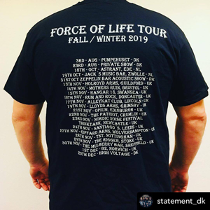 "T-shirt ""Force of Life Tour 2019"""